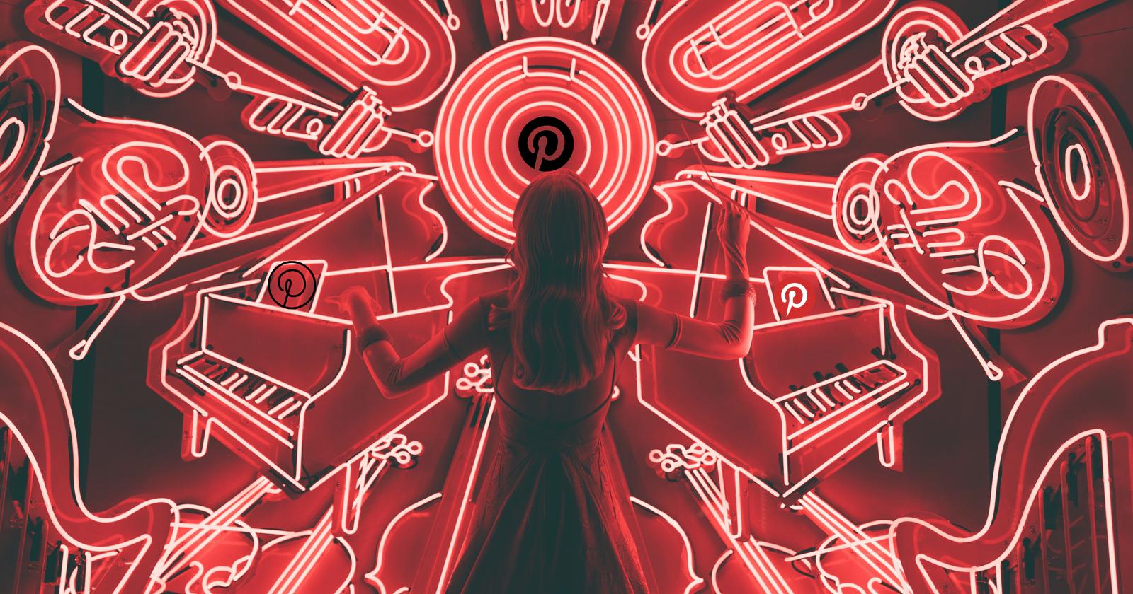 Pinterest neon sign