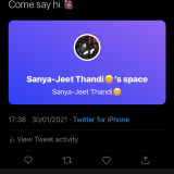 Sanya-Jeet Thandi Twitter Spaces Host Beta